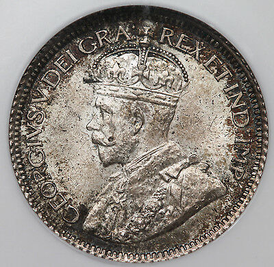Canada 1918 10 Cent Silver Coin 10C NGC MS64 George V Choice BU+ KM #23