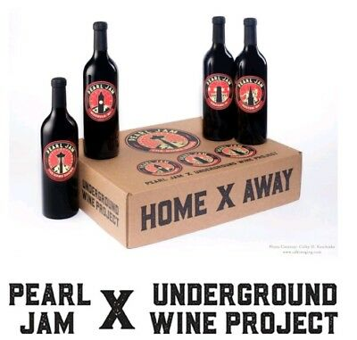 Pearl Jam Home X Away Shows Underground Wine Set.  SOLD OUT LIMITED ED of 450
