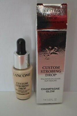 BNIB Lancome Custom Strobing Drop Champagne Glow liquid highlighter travel 7ml