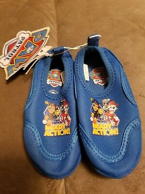 9e481cbce45e PAW PATROL Toddler Boy s Size 5 6 Durable Slip On Water Shoes Marshall  Chase NWT