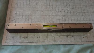 "Vintage 12"" Spirit Level With Brass Inlay.old,house,tools,workshop,woodwork,shed"