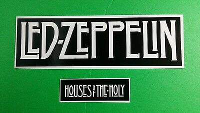 Lot 2Pcs Led Zeppelin Band Name B&W Medium House Of The Holy Small Music Sticker