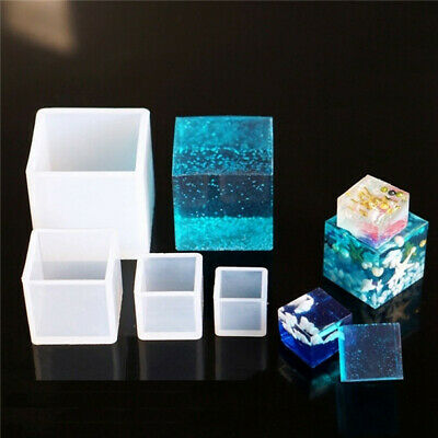 1 X Diy Silicone Pendant Mold Jewelry Making Cube Resin Casting Mold Craft