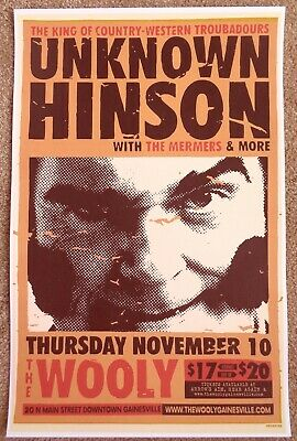 UNKNOWN HINSON 2016 Gig POSTER Gainesville Florida Concert Cuyler Adult Swim
