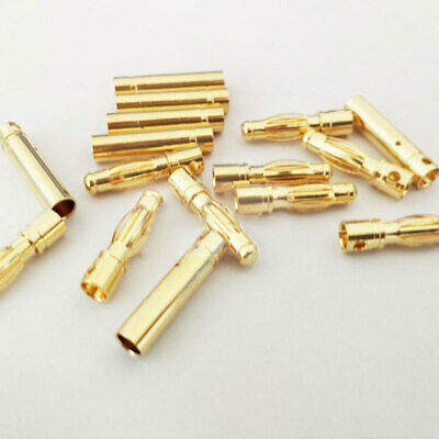 Lots 4mm Gold-plated Bullet Banana Plug Male & Female Connector for RC B WTB