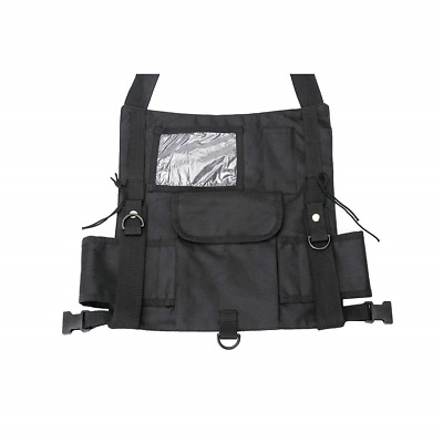 Outdoor Universal Hands Free Chest Pocket, Tractical Radio Harness Bag Premium