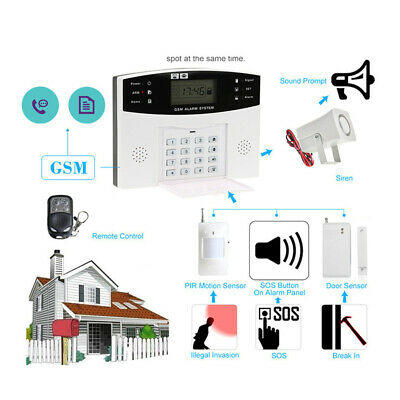 Smart.Alarm Auto Dialer Infrared Detector GSM SMS For.Home Security.LCD Wireless