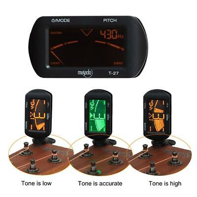 LCD Clip-on Electronic Digital Guitar Tuner for Chromatic Violin Ukulele Bass