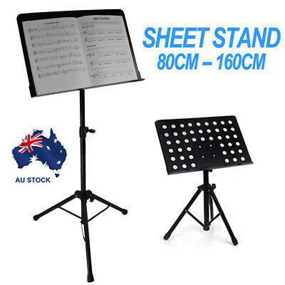 Adjustable Music Sheet Conductor Stand Stage Holder Mount Tripod Folding Base AU