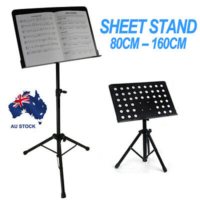 Heavy Duty Large Metal Adjustable Music Stage Stand Sheet Conductor Folding AU