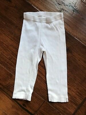 Hanna Andersson White Ribbed Leggings in Girls Size 110