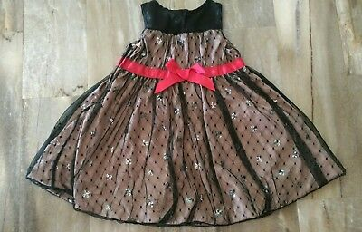 a635bd3296b59 Girls Harajuku Mini For Target Tan Black Tulle Sequin Holiday Party Dress  Sz 4T