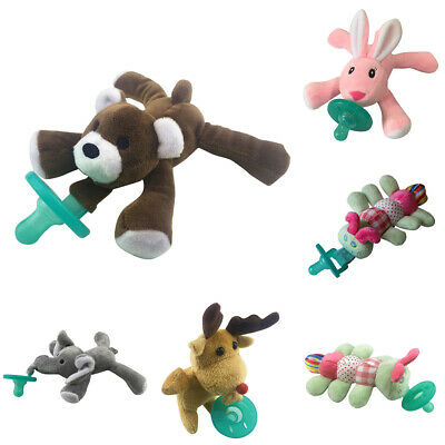 Lovely Baby Nipple Infant Silicone Pacifier With Cartoon Animal Plush Toy Smart