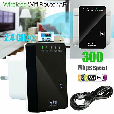 300Mbps N 802.11 AP Wireless Wifi Repeater Router Range Extender Booster
