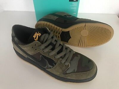 detailed look f5135 20fdf New Nike SB Zoom Dunk Low Pro Camo SIZE US 6 Military Olive Shoes 854866-