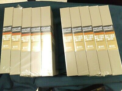 MAXELL Professional  Broadcast Quality Videocassettes ST-126,SE-180 New 10 Total