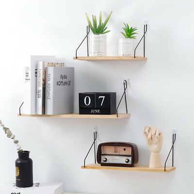 Astounding Home Decor Floating Wall Shelves 3Pcs Ledge Shelving Storage Home Interior And Landscaping Dextoversignezvosmurscom