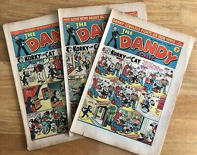 THE DANDY COMIC 1946 x 3 Issues Nos 318 326 329 May 11th Aug 31st Oct 12th VG