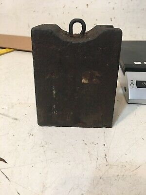 Antique Iron Clock Weight For 8 Day Clock Ogee Triple Decker Other