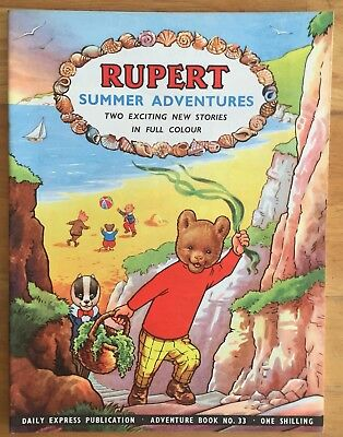 RUPERT Adventure Series Number 33 Rupert Summer Adventures June 1957 Very FINE