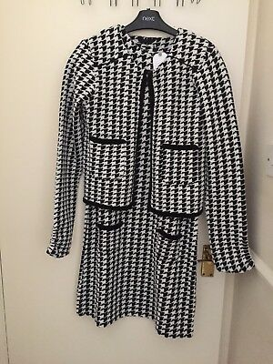 BNWT Next Girls Black & White dress & jacket 14 years gift winter party casual