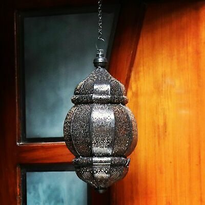 Black Moroccan Pendant Light Antique Vintage Lamp Hanging Chandelier Ceiling