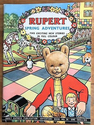 RUPERT Adventure Series 36 SPRING ADVENTURES February 1958 FINE CONDITION