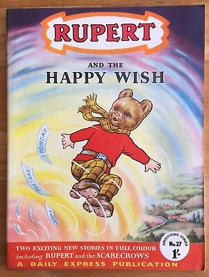 RUPERT Adventure Series No 27 Rupert & HAPPY WISH Feb 1956 V FINE Ex-Shop Stock