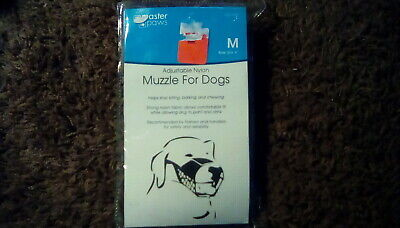Master Paws Adjustable Nylon Muzzle for Dogs (Medium) NEW! (Fast Shipping!)
