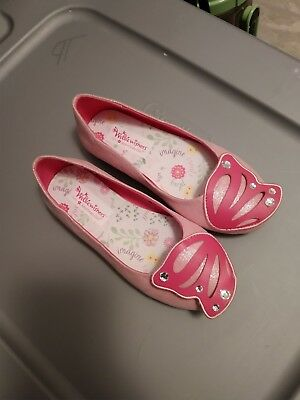6cbb88d33b0d3 American Girl Wellie Wishers Flutter Wings Shoes For Girls, Size 1, Pink  Flats