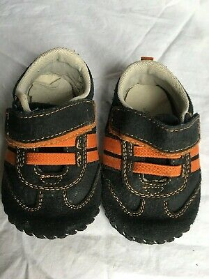 carozoo star anchor dark blue 12-18m soft sole leather baby shoes