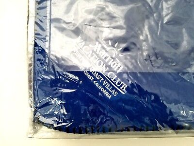 Marriott Vacation Club Blanket Embroidered Blue Cover Couch/Bed Blanket New