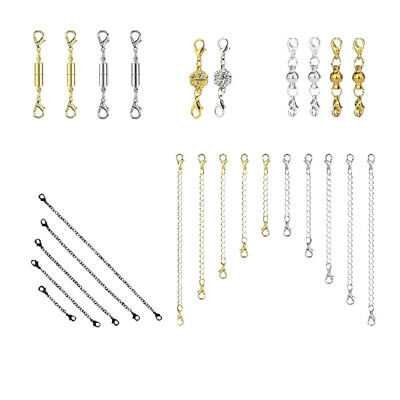 25 Pcs Jewelry Making Magnetic Hooks Lobster Clasp Necklace Extenders Chains