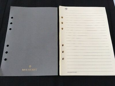 Organiser/Filofax MULBERRY PLANNER 60 CREAM LINED SHEETS PACK 210x150mm