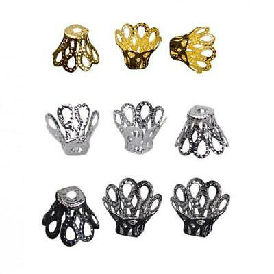 100pcs Gold Plated Filligree Flower Cup Shape Bead Caps 7mm ~Jewelry Making~