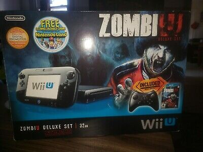 WII U 32GB Black Working No Gamepad Pro Controller Linux