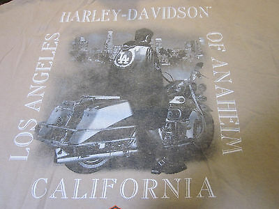 Rare Harley- Davidson Los Angeles California LA Rebel skyline Shirt 3X