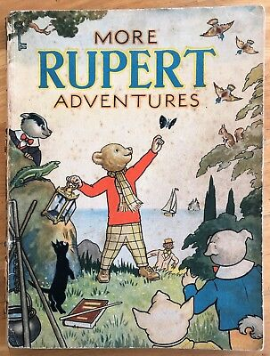 RUPERT 1943 ORIGINAL ANNUAL Neat Inscription Not Price Clipped G/VG