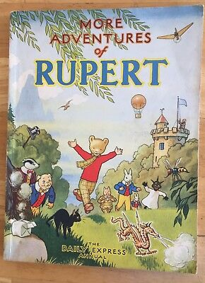 RUPERT ORIGINAL ANNUAL 1947 Inscribed Price clipped VG/FINE!