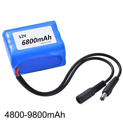DC 12V 4800-9800mAh Portable Rechargeable Lithium Li-ion Battery Batteries Pack
