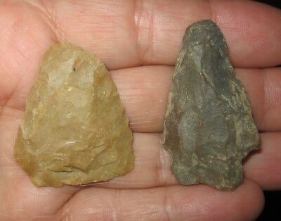 2 Well Used Missouri Authentic Artifacts Arrowheads Knives Spears Butler County
