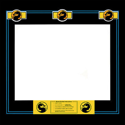 Mortal Kombat Arcade Monitor Bezel Sticker Decal