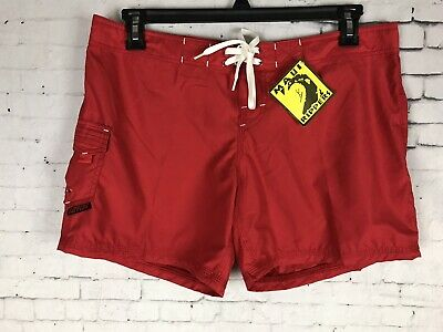 defbe9ad5852 Maui Rippers Board Shorts Size 11 Women's Red Surf Swim Trunks New ...