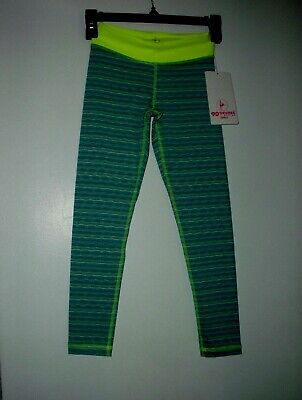 90 Degree by Reflex  Girl Size S (7-8) Jade Combo Gym Leggings Pant New $52.00
