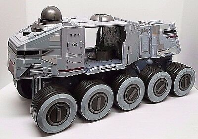 Star Wars Clone Wars Turbo Tank Vehicle Electronic Toy Lights + Sounds - TESTED!
