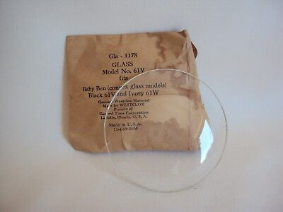 "Vintage Round Convex Glass For Clock 2.75"" Diameter Old Stock"