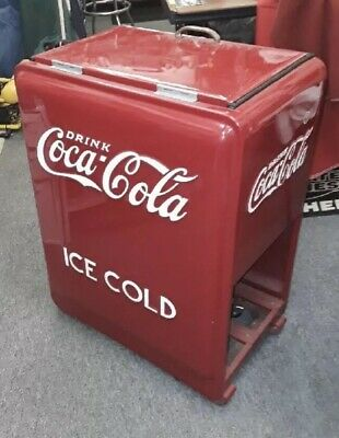 Coca Cola Cooler Advertising Vintage Restored Pause Refresh StatenIsland PickUp