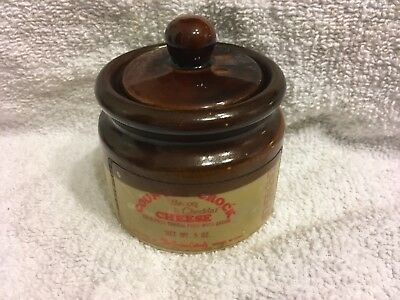 Brown Glazed Ceramics & Porcelain Vintage Christmas 1993 Cheese/butter Crock Antiques