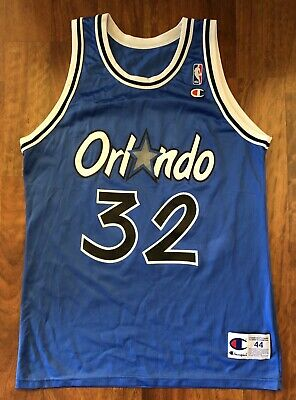 9a1b5c26b418 Vintage Champion Orlando Magic Shaquille O neal Jersey Men s Size 44 Large