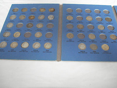 Nice Started Set Of 31 Silver Roosevelt Dimes In Whitman Folder